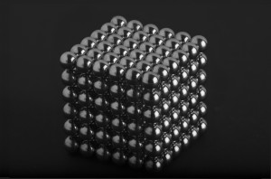 A 6 x 6 cube of spherical magnets