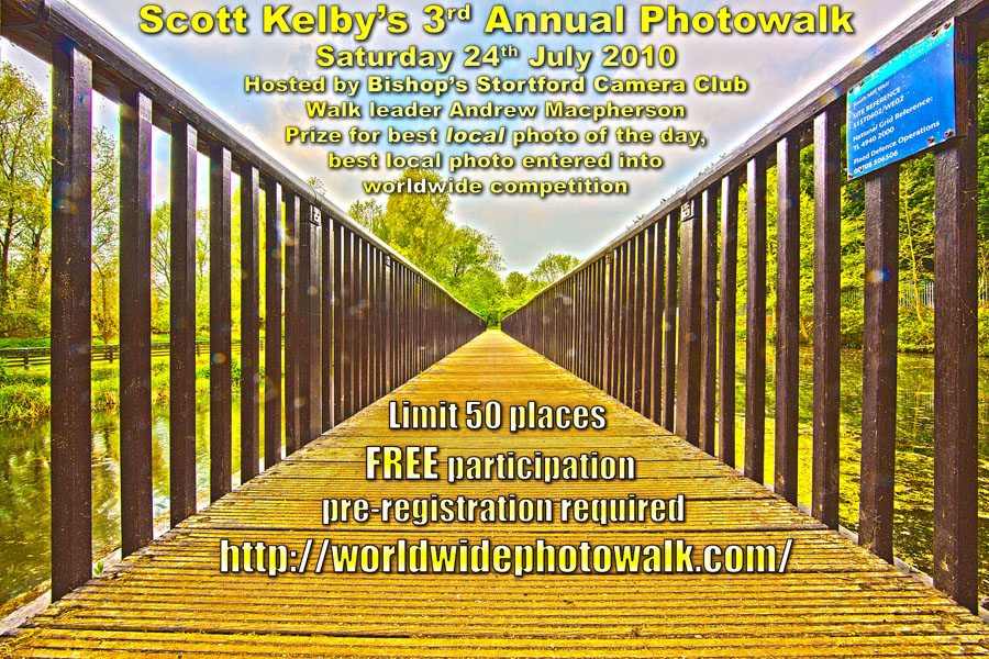 Advertisement for the World Wide PhotoWalk on July 24th